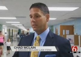 graves mclain free backpack program, community engagement, jackson elementary school, tulsa personal injury law firm, school supply drive, charitable programs, tulsa injury attorneys, kotv news